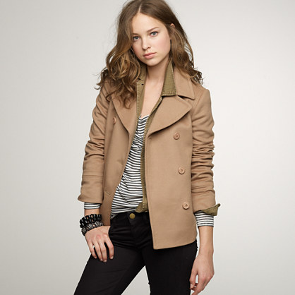 Petite ever peacoat with thinsulate® : coats & jackets | J.Crew
