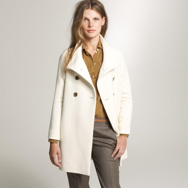 Double-cloth bonbon coat
