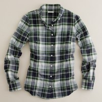 Herringbone plaid boy shirt