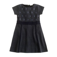 Girls' embellished ponte dress