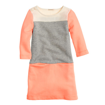 Girls' maritime dress in colorblock