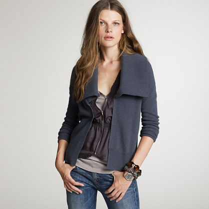 Dream open shawl-collar cardigan