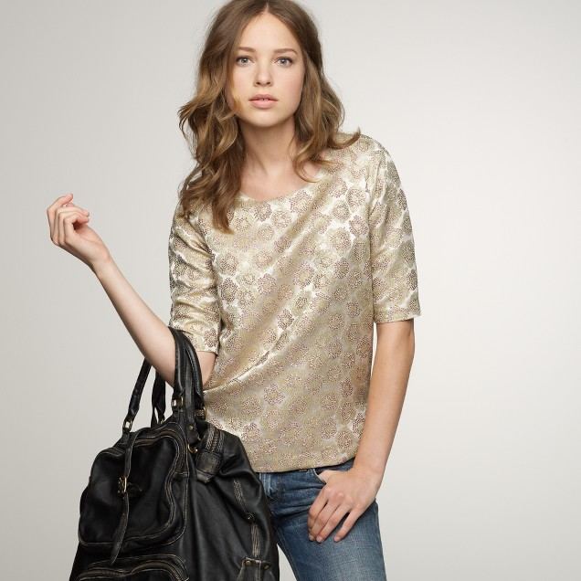 Goldenrod brocade top