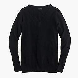 Italian cashmere V-neck sweater