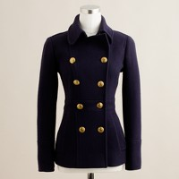 Stadium-cloth peacoat with gold buttons