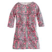 Girls' mini Jules dress in neon swirl print