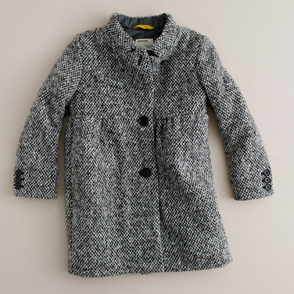 Girls' big city tweed coat