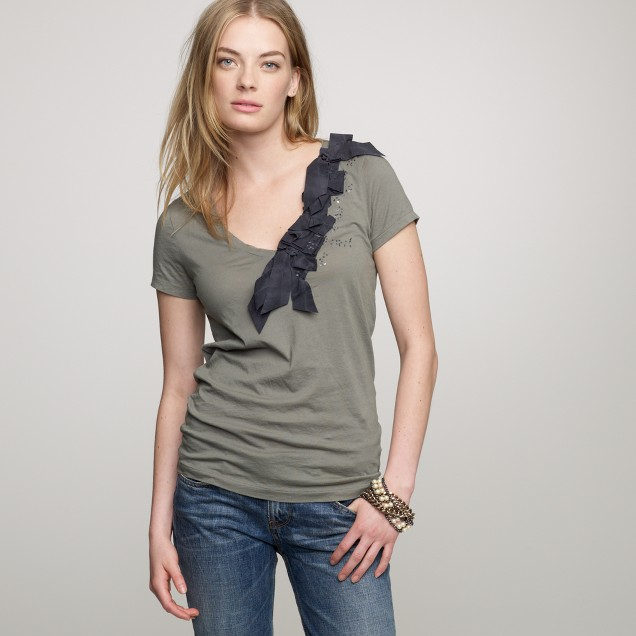 Tissue folded ribbons tee