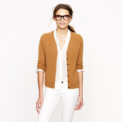 Collection cashmere mini-cable cardigan