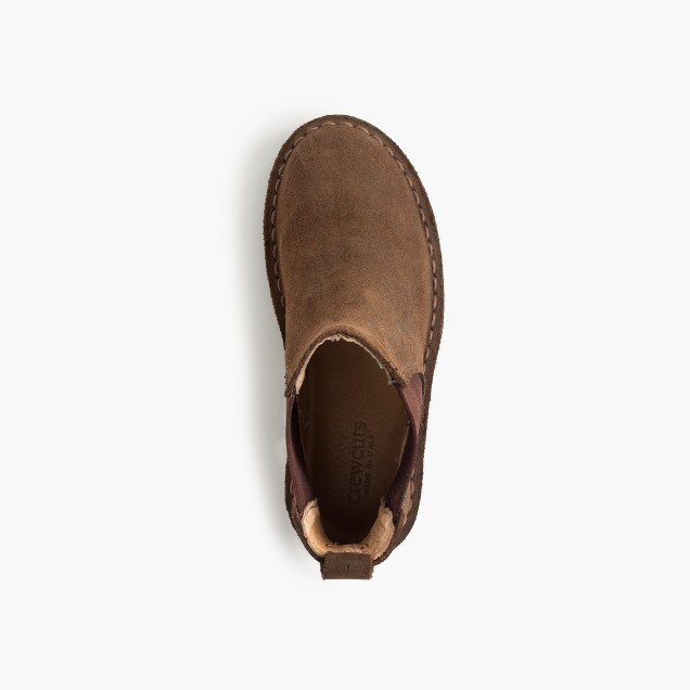 Kids' oiled-suede Chelsea boots