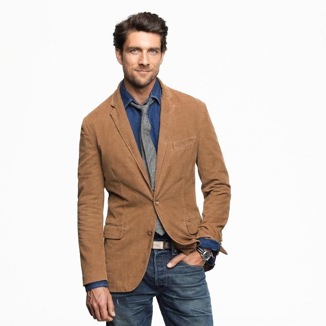 Tall Ludlow sportcoat in 14-wale corduroy