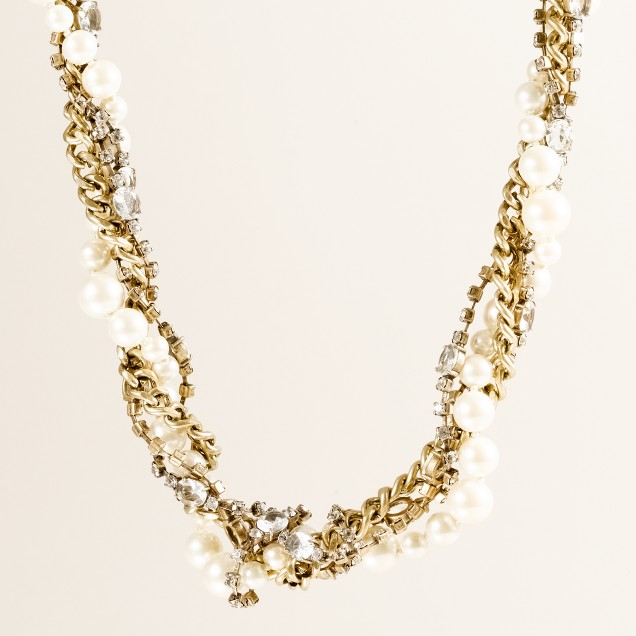 Pearl-and-crystal symphony necklace