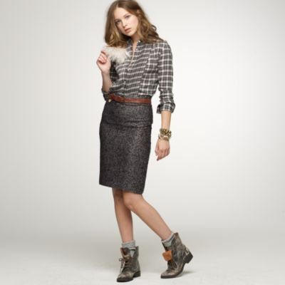 Notte tweed pencil skirt : | J.Crew