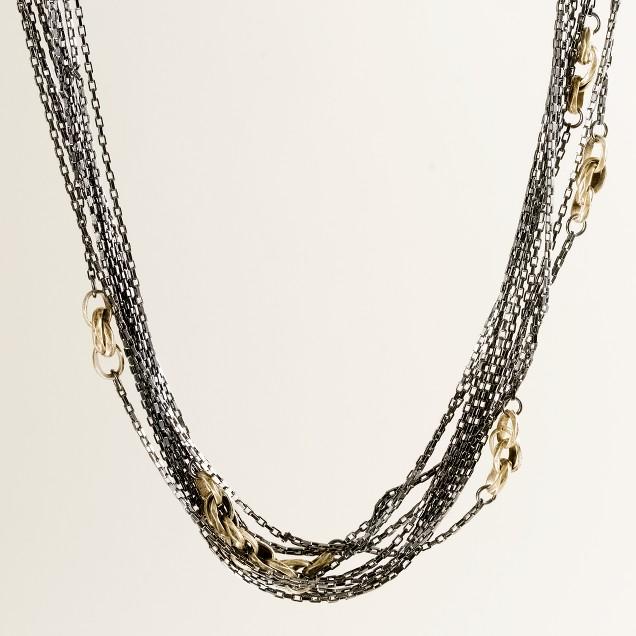 Ombré maritime rope necklace