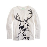 Boys' long-sleeve dalmatian tee