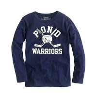 Boys' long-sleeve hockey tee
