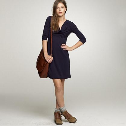 Softspun cowlneck dress