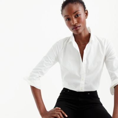 Petite three-quarter-sleeve stretch perfect shirt