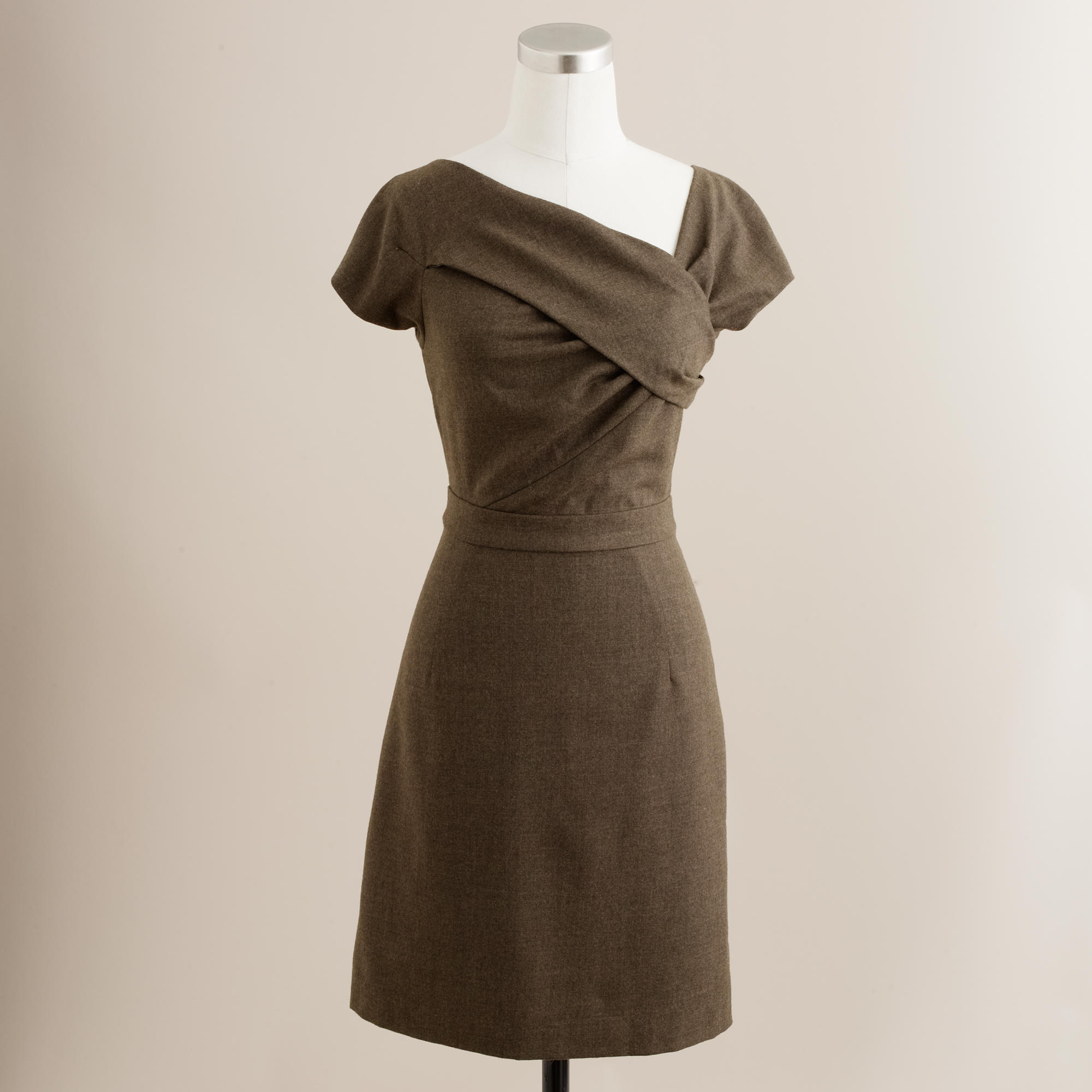 Wool origami sheath dress : | J.Crew