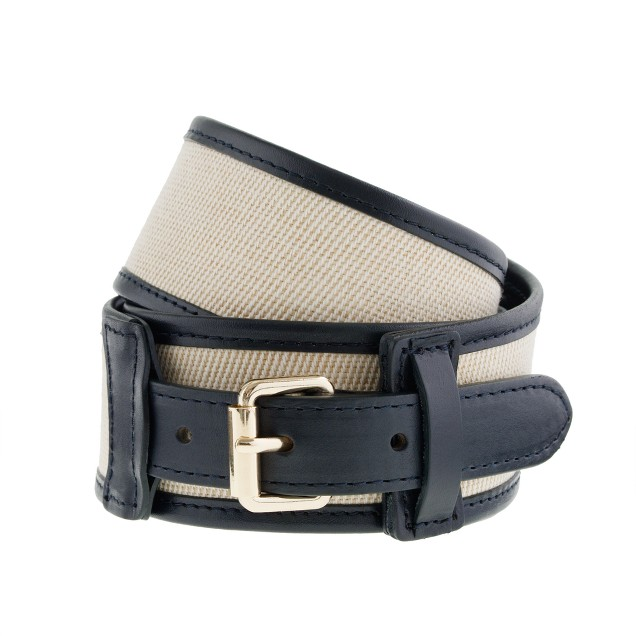 Canvas and leather belt