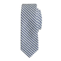 Boys' tie in seersucker
