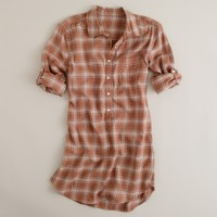 Flannel getaway tunic