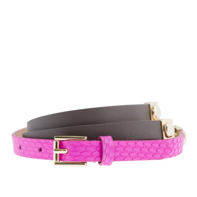 Mixed leather rivet belt