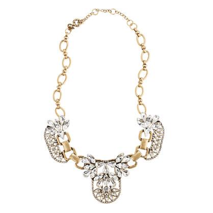 Crystal cluster necklace