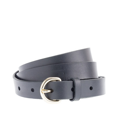 Leather round-buckle belt