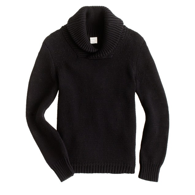 Boys' shawl-collar sweater