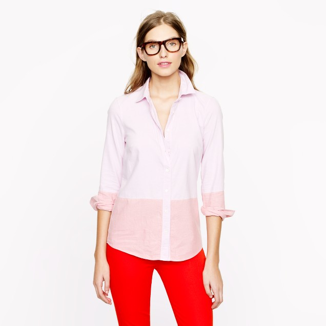 Boy shirt in colorblock oxford