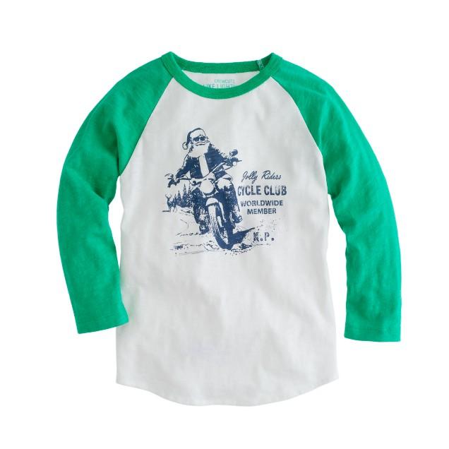 Boys' motorcycle santa tee