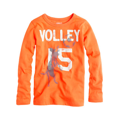 Boys' long-sleeve volley dog tee