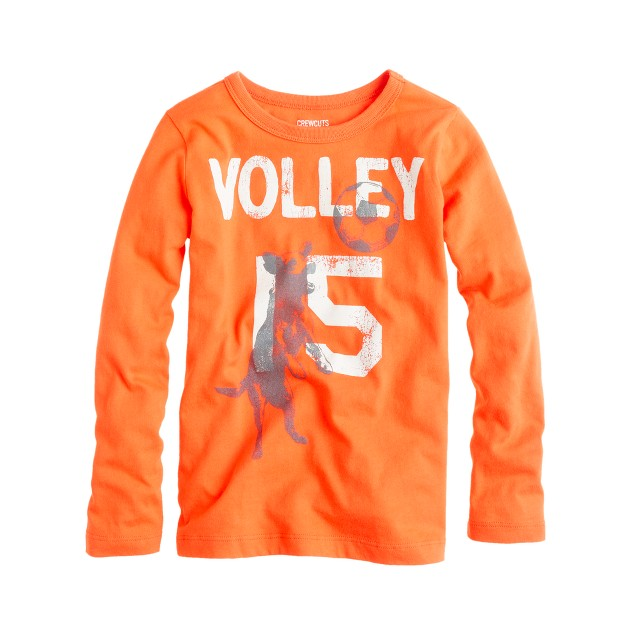 Boys' long-sleeve volley dog tee