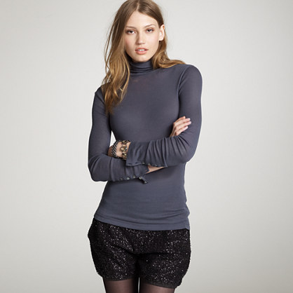Woolly ribbed turtleneck
