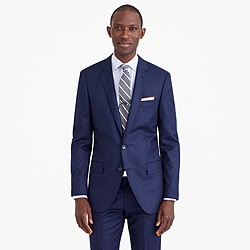 Ludlow suit jacket in heathered Italian wool flannel