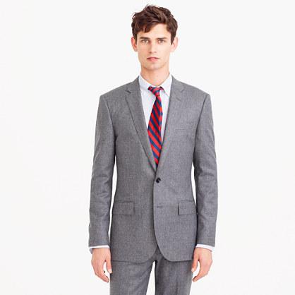 Ludlow suit jacket in heathered Italian wool flannel