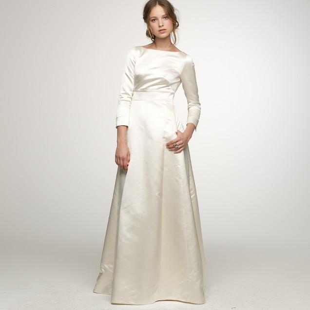 Duchesse satin Noelle gown