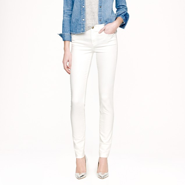 Midrise toothpick jean in white