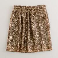 Sequin mesh bell skirt