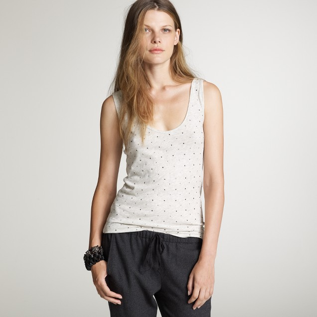 Crystallized cotton tank