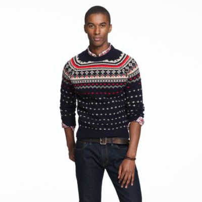 Mens Fair Isle Sweater Knitting Patterns : Lambswool Seaspey Fair Isle sweater : wool J.Crew