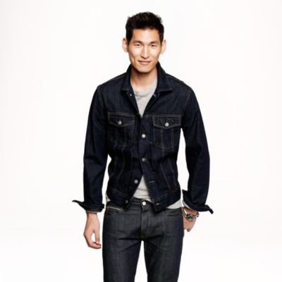 Denim jacket in dark rinse wash : | J.Crew