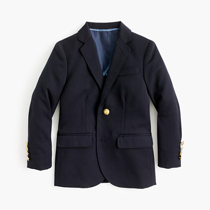 Boys' Ludlow two-button blazer in navy wool
