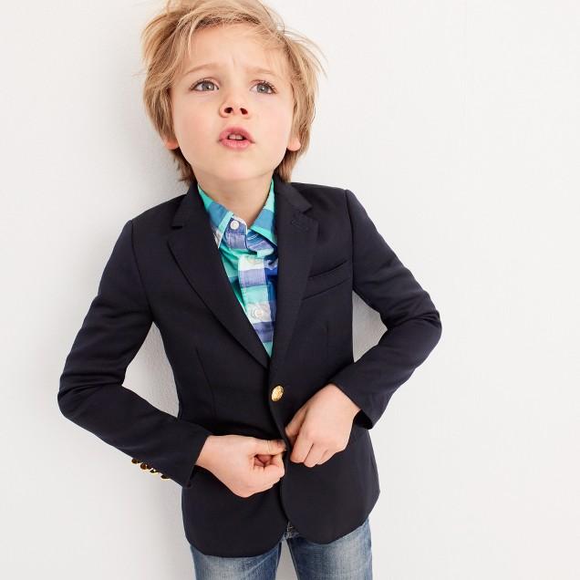 Boys' Ludlow two-button blazer in navy wool