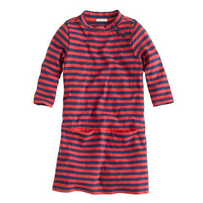 Girls' mini Jules dress in stripe