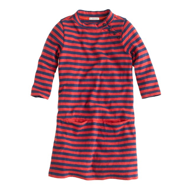 Girls' mini Jules dress in stripe