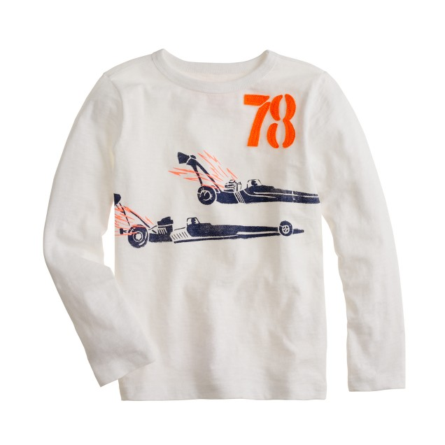 Boys' long-sleeve racecars tee