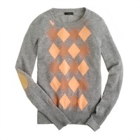 Collection cashmere argyle sweater
