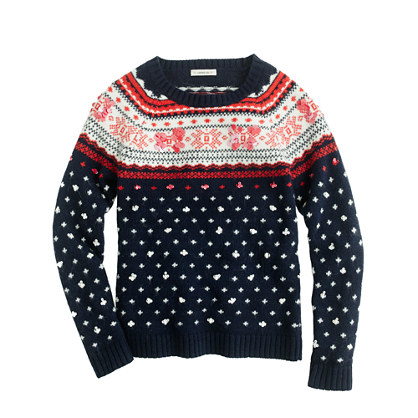 Girls' Fair Isle sequin sweater